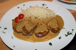 Schweinefilet mit Metaxa-Dijon-Senf-Sahne-Sauce