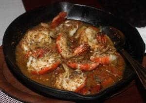 Gambari Mashwi, eingelegte Scampi nach arabischer Art mit Reis und Salat